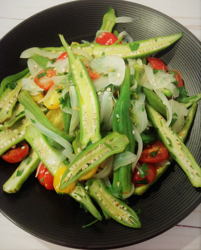 Easy Oil Free Sauteed Okra Plants Rule
