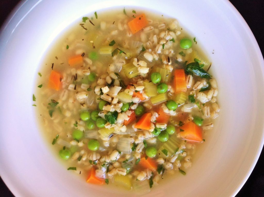 Irish Vegetable Barley Soup Plants Rule
