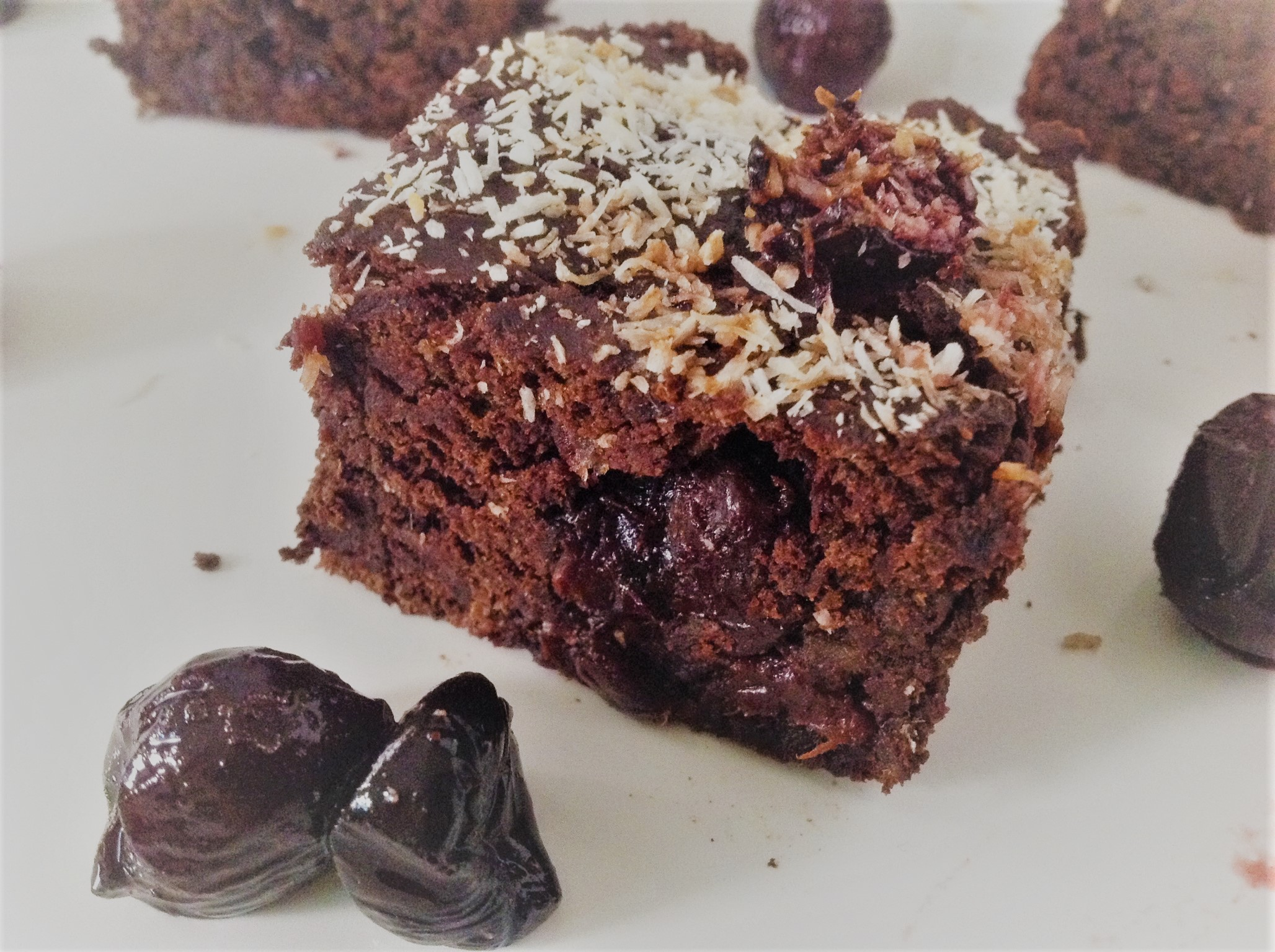 Black Forest Brownies With Cherries And Coconut Oil Free Date Sweetened Plants Rule