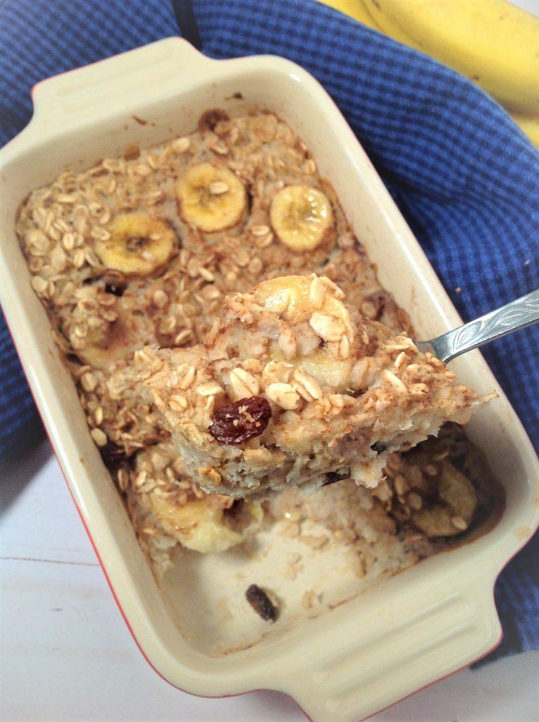 Gluten Free Banana Raisin Baked Oatmeal Plants Rule
