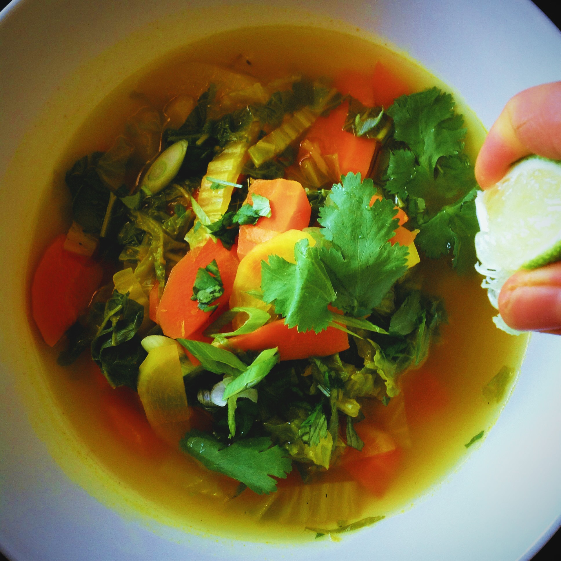 Detox Napa Cabbage Soup With Ginger Turmeric And Lime Plants Rule
